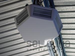 Climatizacion para escuela pública con  fancoils hexagonales + agua caliente solar  en Sant Quirze, Valles Occidental.