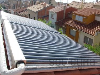 Agua caliente sanitaria mediante energia solar en Badalona
