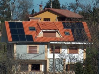Agua solar en geriatrico