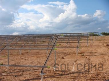 Etapas en la construcción de las huertas solares