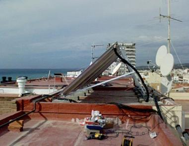 Paneles solares en Calafell, Tarragona