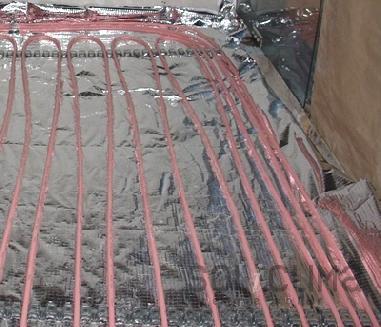 suelo radiante para frio en local comercial