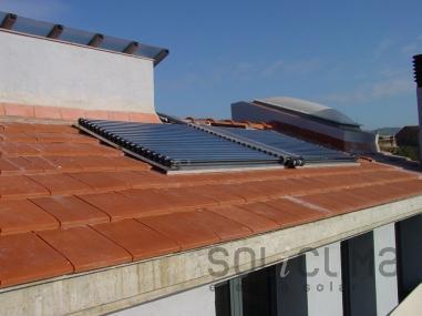 Energía solar mediante tubos de vacio