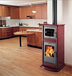 Estufa de biomasa Vanessa, con horno