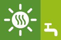 Agua caliente mediante energia solar